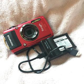 オリンパス(OLYMPUS)の中古 オリンパス TG-4 本体+USB充電コード(コンパクトデジタルカメラ)