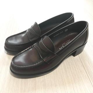 ハルタ(HARUTA)の【HARUTA】ヒールローファー 茶色 25.5cm EF34603(ローファー/革靴)