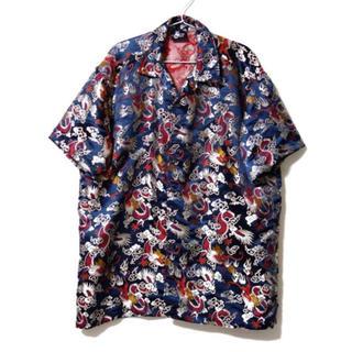 トウヨウエンタープライズ(東洋エンタープライズ)のvintage dragon shirt 刺繍 総柄 シャツ オーバーサイズ 龍(シャツ)