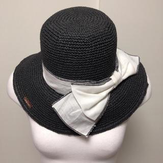 レディー(Rady)のRady 帽子 麦わら帽子 ハット 黒 ブラック(麦わら帽子/ストローハット)