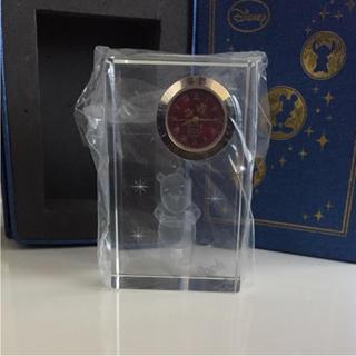クマノプーサン(くまのプーさん)のくまのプーさん クリスタルクロック(置時計)
