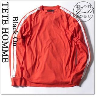 テットオム(TETE HOMME)の新品 テットオム 長袖 Tシャツ 16200円 LL カットソー 橙(Tシャツ/カットソー(七分/長袖))