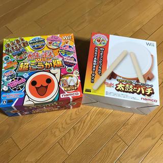 ウィー(Wii)のwii 太鼓の達人 太鼓とバチセット タタコン(家庭用ゲームソフト)