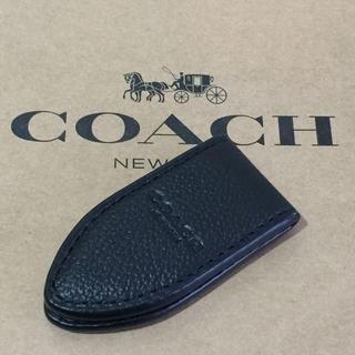 コーチ(COACH)の新品 コーチ メンズ ロゴ シンプル デザイン レザー 財布 マネークリップ(マネークリップ)