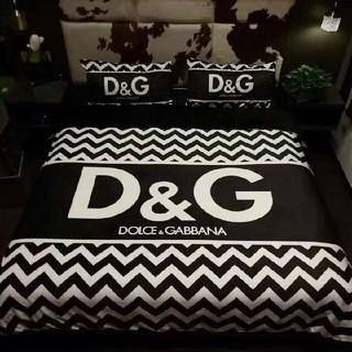 ディーアンドジー(D&G)のD&D  おしゃれ【寝具カバー】 ☆4点セット☆布団カバー☆掛け布団カバー(布団)