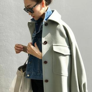 ドレスレイブ(DRESSLAVE)の新品 ‼️ MANTECO over shirt coat グリーン(ロングコート)