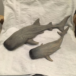 ダブルティー(WTW)のWTW オリジナル 壁掛けサメのオブジェ S、Lセット(置物)