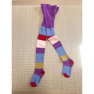 カルディア(CALDia)の新品未使用 CALDIA タイツ カルディア 120 カラーブロック タイツ(靴下/タイツ)