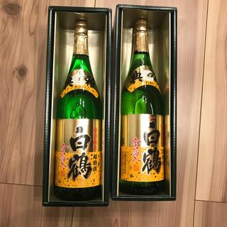 白鶴 超特撰 1800ml 二本 典雅ゴールド 金箔入 特別純米酒 1.8L瓶(日本酒)