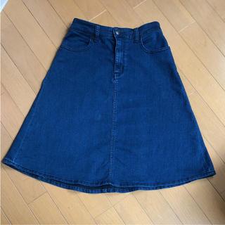 ジーユー(GU)の デニムスカート(ひざ丈スカート)