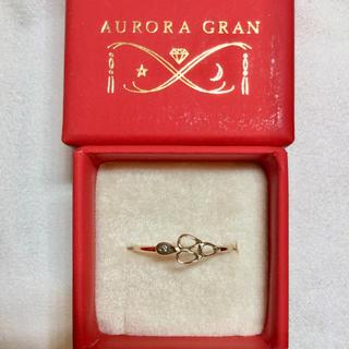 オーロラグラン(AURORA GRAN)のオーロラグラン ハッシュ2リング 10K イエローゴールド ダイヤ(リング(指輪))