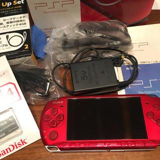 プレイステーションポータブル(PlayStation Portable)の【美品】PSP 一式セット ※バッテリーなし(携帯用ゲーム本体)