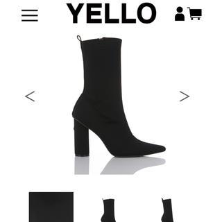 イエローブーツ(Yellow boots)のYELLO boots/Black/M size(ブーツ)