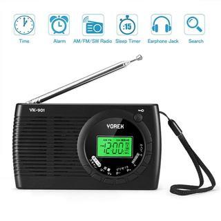 【未使用】[送料無料]AM/FM/SW ワイドFM対応ポータブルラジオ 高感度受(ラジオ)