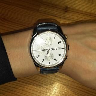 ディーアンドジー(D&G)のD&G 時計 ホワイト ネイビー アナログ(腕時計(アナログ))