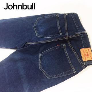 ジョンブル(JOHNBULL)のJohnbull ソーイングチョップストレートデニムパンツ☆サイズ28約72cm(デニム/ジーンズ)