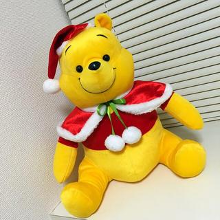 クマノプーサン(くまのプーさん)のディズニー くまのプーさん メガジャンボクリスマスぬいぐるみVer.2(ぬいぐるみ)