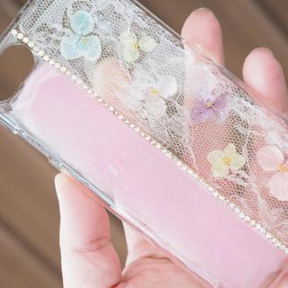 紫陽花のiPhoneケース♡【ツートン】(スマホケース)
