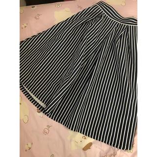 ジーユー(GU)の♡GU♡ストライプスカート♡(ひざ丈スカート)