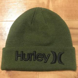 ハーレー(Hurley)の★未使用★Hurley ハーレー ニットキャップ ビーニー 緑 メンズ (ニット帽/ビーニー)