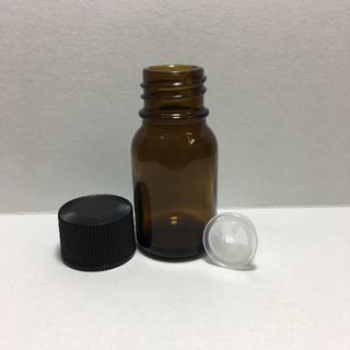 新品 遮光瓶 ローション穴栓 容器 10ml 黒CAP アロマ 詰替 (アロマグッズ)