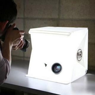 簡易式!撮影ボックス小型 22.6*23*24 cm(ストロボ/照明)