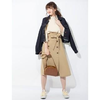 ジーユー(GU)のGU トレンチAラインスカート  NR(ひざ丈スカート)
