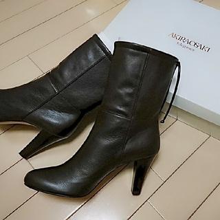 新品AKIRAOSAKI Eleganceアキラオーサキショートブーツ23.5(ブーツ)