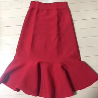 グーコミューン(GOUT COMMUN)のマーメイドスカート 赤(ひざ丈スカート)