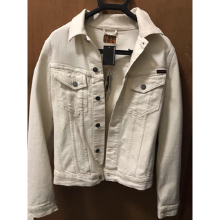 ヌーディジーンズ(Nudie Jeans)のヌーディジーンズ 白 xsサイズ(Gジャン/デニムジャケット)