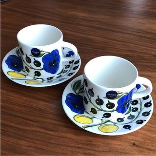 アラビア(ARABIA)の【新品】アラビア イエロー パラティッシ コーヒーカップ&ソーサー 2客(食器)