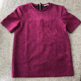ザラ(ZARA)のZARA スエード調トップス sizeS(カットソー(半袖/袖なし))