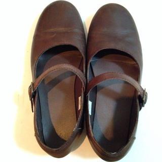 ムジルシリョウヒン(MUJI (無印良品))の本革 ぺたんこシューズ(ローファー/革靴)