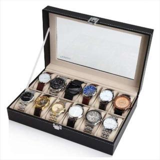 【再々入荷】 腕時計ケース 12本専用 コレクション(その他)