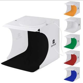 特価!!!撮影ボックス LEDライト40PCS 6色付き(ストロボ/照明)
