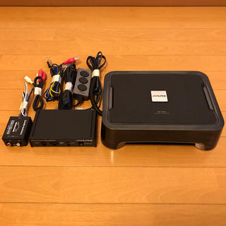 ALPINE SWE-1500 パワードサブウーファー  AT-HLC110付き(カーオーディオ)