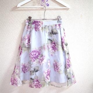 エベルモーション(EBELE MOTION)のEBELE MOTION 花柄 スカート(ひざ丈スカート)