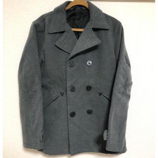ジーユー(GU)のPコート ピーコート GU XLサイズ グレー(ピーコート)