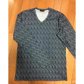 テットオム(TETE HOMME)のvネック ロンT ネイビー メンズ テットオム Lサイズ(Tシャツ/カットソー(七分/長袖))