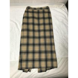 ジーユー(GU)のチェックタイトスカート(ひざ丈スカート)