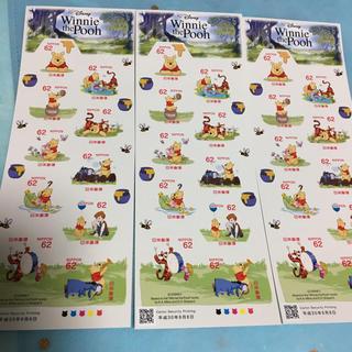 クマノプーサン(くまのプーさん)の切手62円30枚  プーさん(切手/官製はがき)