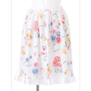 チェリーアン(cherry Ann)のcherryann♡チュールオンフラワースカート(ひざ丈スカート)