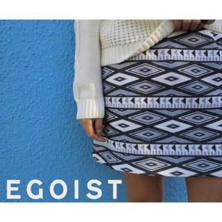 エゴイスト(EGOIST)のエゴイスト オリジナル柄台形スカート(ミニスカート)