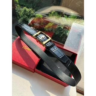 カルティエ(Cartier)の正規 カルティエ アルディロン タンクバックルベルト黒×茶 88~98㎝ 調節可(ベルト)
