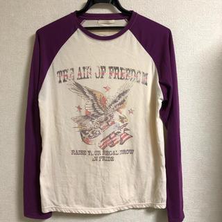 シマムラ(しまむら)のしまむら 長袖 プリントTシャツ(Tシャツ/カットソー(七分/長袖))