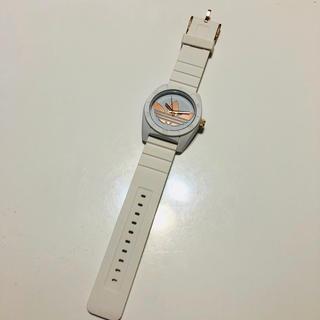 アディダス(adidas)のアディダス腕時計 白×ピンクゴールド(腕時計)