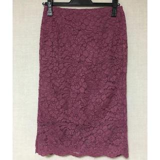 ジーユー(GU)のGU 総レースタイトスカート(ひざ丈スカート)