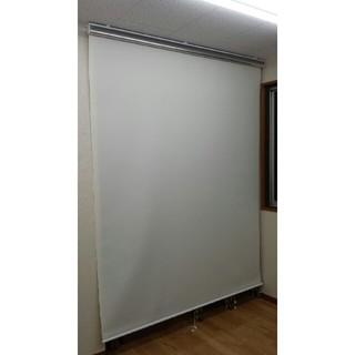 ロールスクリーン(アイボリー) ほぼ新品 幅180cm×高さ220cm 傷有(ロールスクリーン)