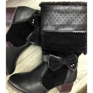 女の子 黒 ブーツ 他にもあり 元払可能↓ 期間限定(ブーツ)
