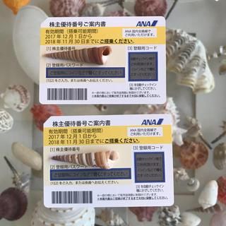 エーエヌエー(ゼンニッポンクウユ)(ANA(全日本空輸))のANA株主優待券 2枚組 ★発券用コード通知のみ。発送なし。お急ぎの方へ(その他)